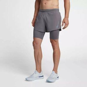 Nike Aeroswift 2 in 1 Running Shorts Tights Gray